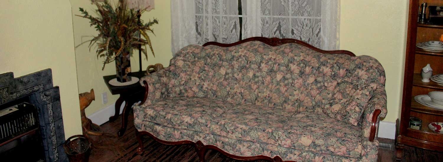 old fashioned couch.